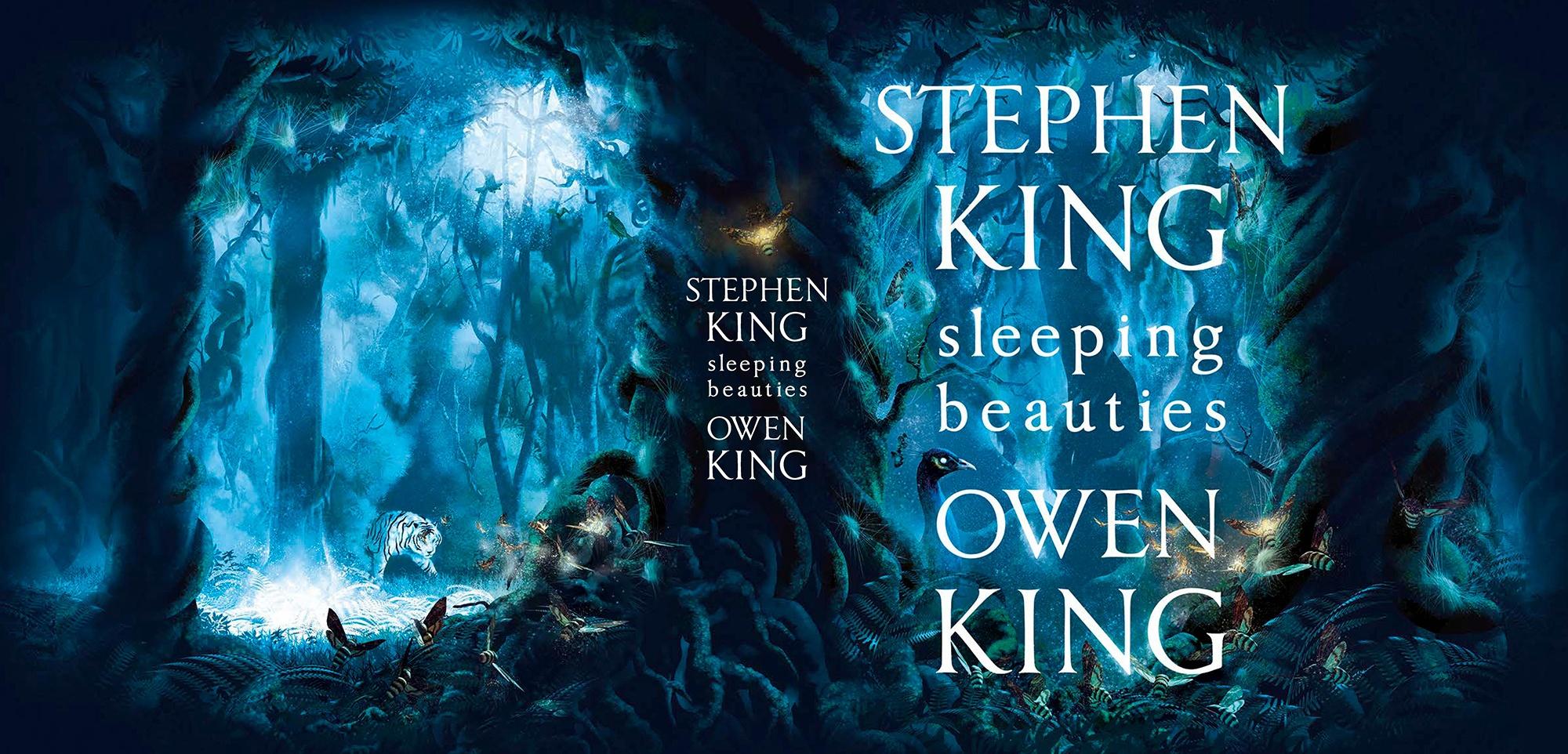 Обложка к английскому изданию романа Стивена и Оуэна Кинга Sleeping Beauties