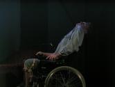 "Кадр из пьесы ""Мизери"" (2003)"